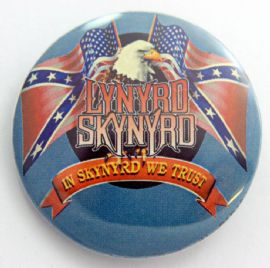 Lynyrd Skynyrd - 'Flags & Eagle' Large Button Badge
